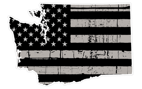 Washington State (N47) Distressed Flag Vinyl Decal Sticker Car/Truck Laptop/Netbook Window