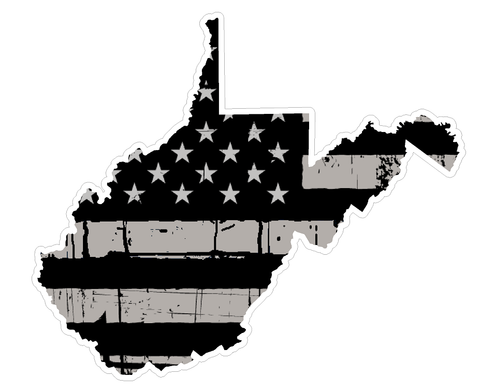 West Virginia State (N48) Distressed Flag Vinyl Decal Sticker Car/Truck Laptop/Netbook Window