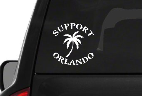 Support Orlando Palm Tree (F22) Vinyl Decal Sticker Car/Truck Laptop/Netbook Window