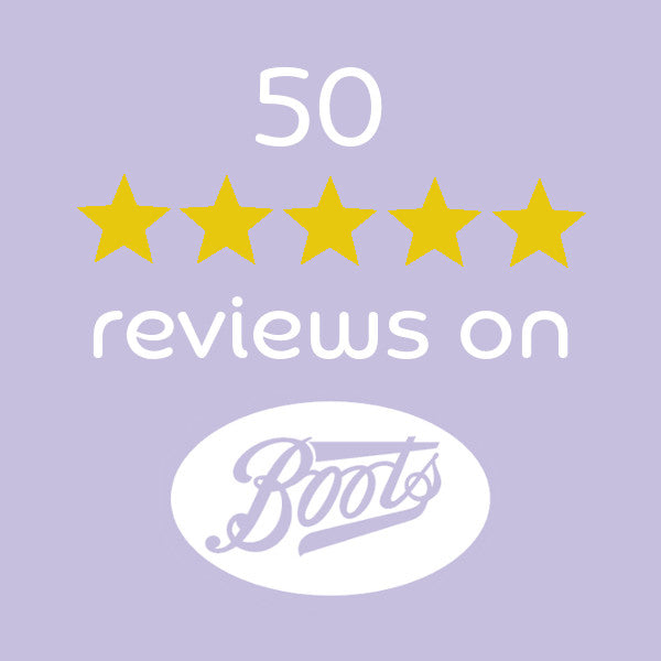 50 five-star reviews on Boots.com!