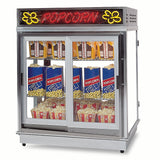 Gold Medal AstroPop Popcorn Staging Cabinet Customer-Side Sliding / Operator-Side Swinging Doors (2004SLD)