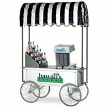 "Gold Medal 48"" White Wagon for Shaved Ice Machine (2129HF)"