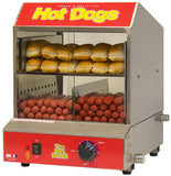 Benchmark Dogpound Hot Dog & Bun Steamer - 164 Dog, 36 Bun Capacity