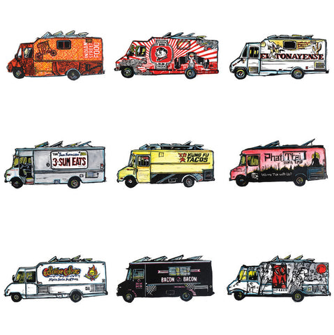"""SF Food Trucks"" Print"