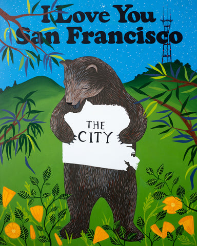 """I Love You San Francisco"" Print"