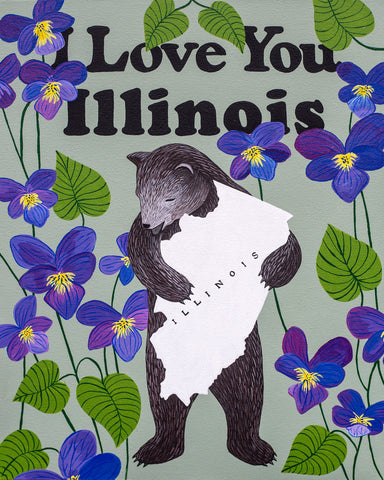 """I Love You Illinois"" Print"