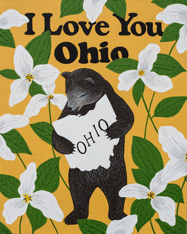 """I Love You Ohio"" Print"