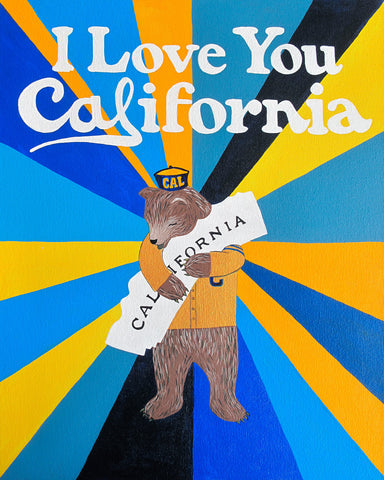 """I Love You California"" Oski Print"