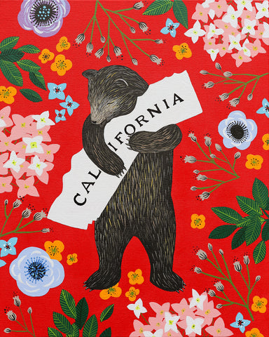 """I Love You California"" Red Print"