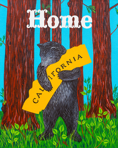 """I Love You California"" Redwood Home Print"