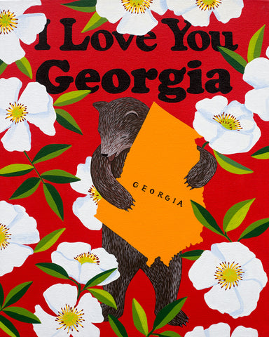 """I Love You Georgia"" Print"