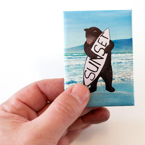 Sunset Bear Magnet