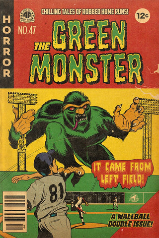 "35. (SOLD OUT) ""The Green Monster"" 7"" x 10.5"" Art Print"