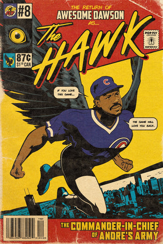 "31. (SOLD OUT) ""The Hawk"" Andre Dawson 7"" X 10.5"" Art Print"