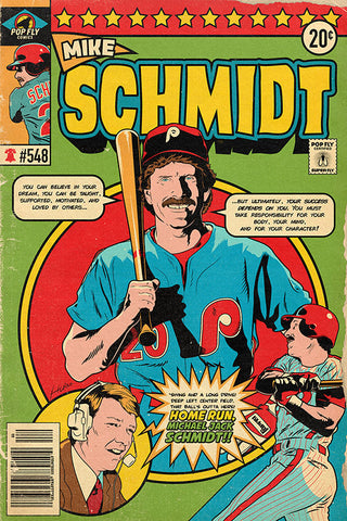"28. (SOLD OUT) Mike Schmidt 7"" x 10.5"" Art Print"