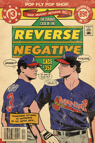 "30. (SOLD OUT) ""Reverse Negative"" Dale Murphy 7' x 10.5"" Art Print"