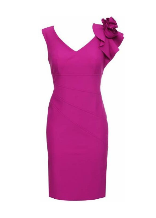 Sleeveless Magenta Dress