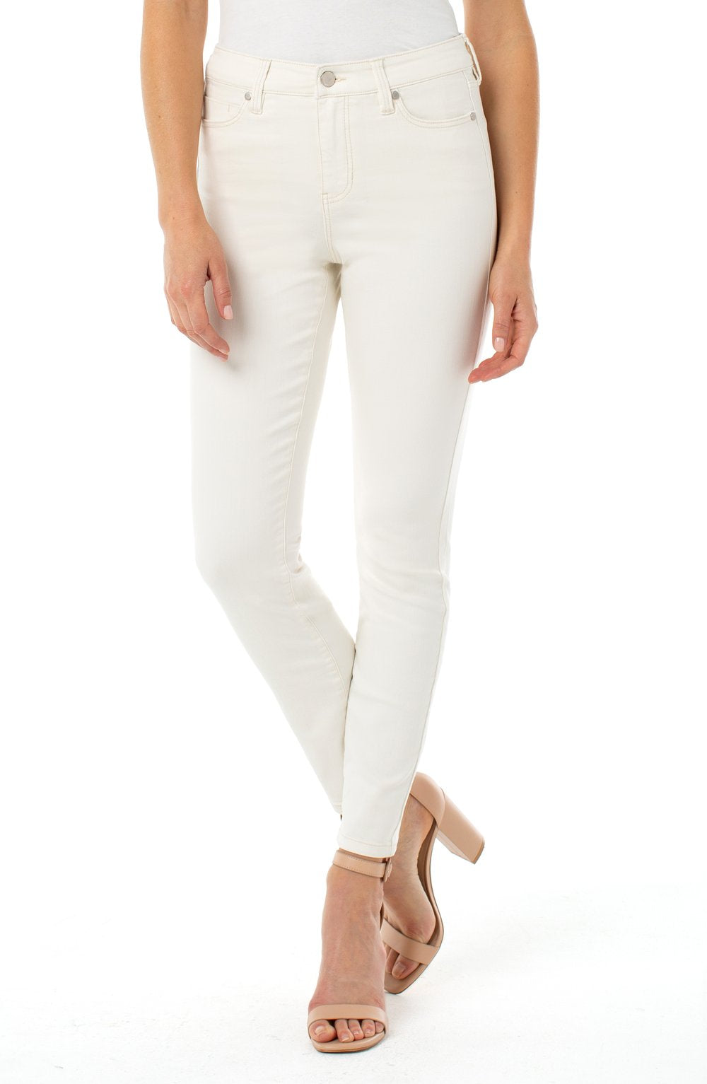 Liverpool - Abby Ankle Skinny Cream Tan Stretch Jeans