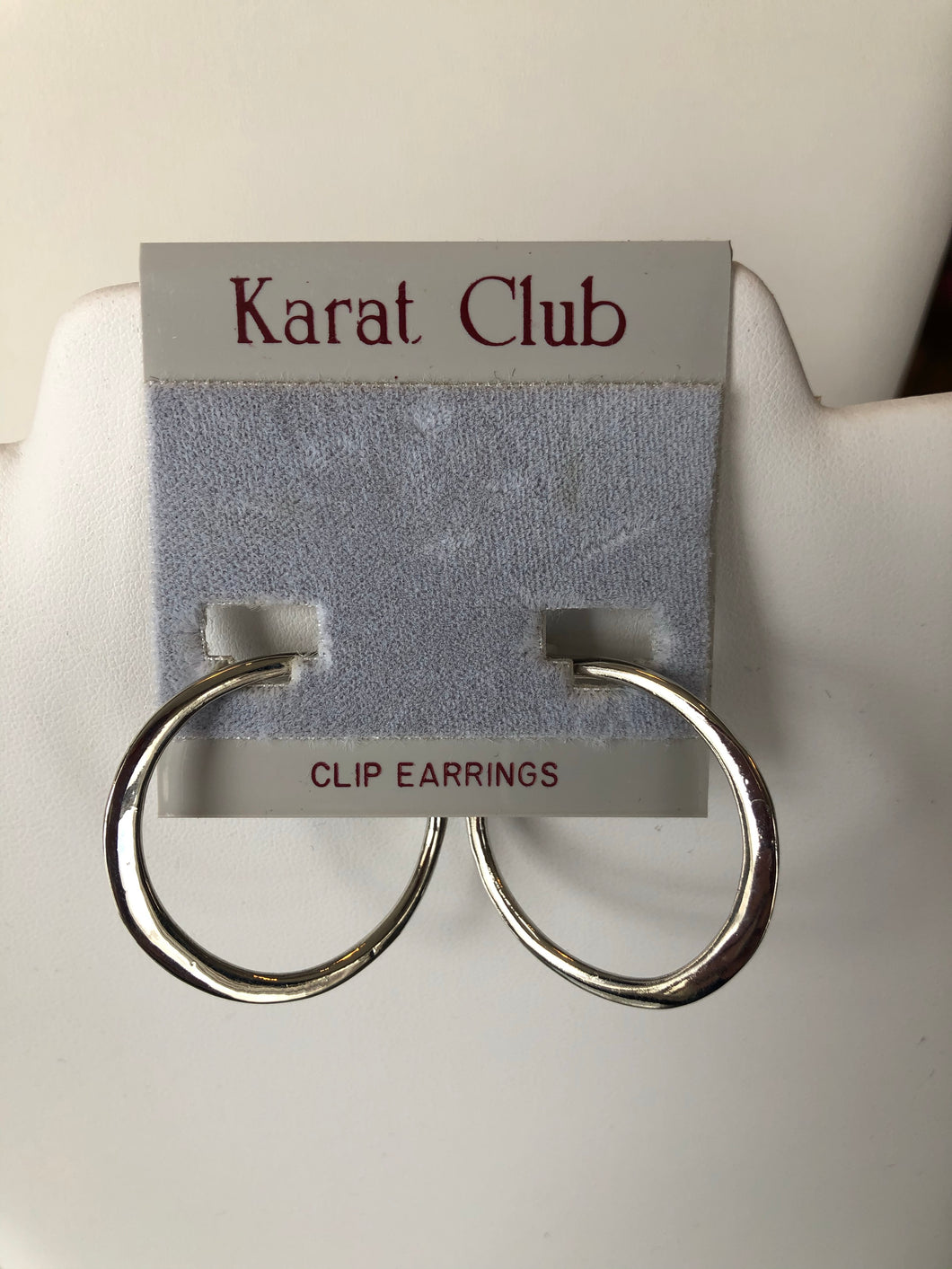 Silver Solid Hoop Clip-On Earrings