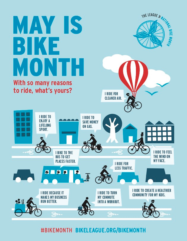 May Is Bike Month Poster