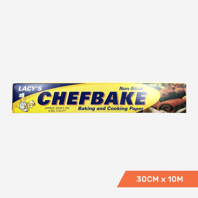 Lacy's ChefBake, Non Stick Baking/Cooking Paper, Siliconised, 30cm x 10m