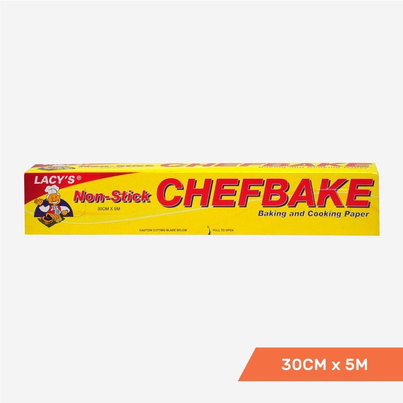 Lacy's ChefBake, Non Stick Baking/Cooking Paper, Siliconised, 30cm x 5m