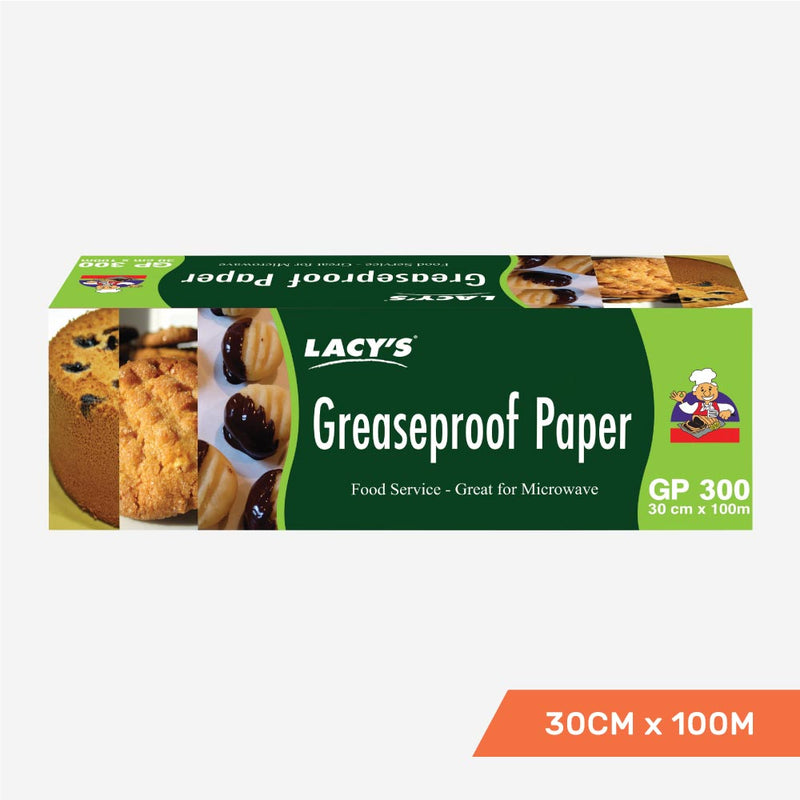 Lacy's Greaseproof Paper 30cm x 100m Roll