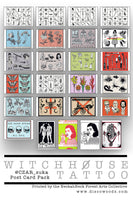 Czar Suka - Witchhouse Tattoo Postcard set - 25 post cards - Drawings - Artworks - Flash Art