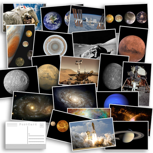 Space and Planet Postcard Pack - Set of 33 Postcards - NASA - Planets - Astronomy - Galaxies - Fantasy - Solar System