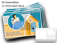 Quarantine Postcard Pack- Set of 10 Identical Corona Virus Postcards - Created from the CDC's Covid-19 posters