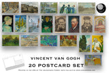 Vincent van Gogh Postcard Set - Set of 20 Postcards - artist postcards - Scrapbooking Post Cards - Post Impressionism