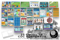 Covid 19 Postcard Set - Set of 25 Corona Virus Postcards - Created from the CDC's Covid-19 posters