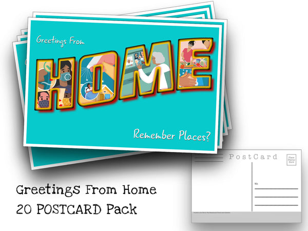 Greetings From Home Postcard Pack- Set of 20 Identical Corona Virus Postcards - Created from the CDC's Covid-19 posters