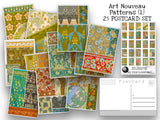 Art Nouveau Design Postcard Set (1) - Set of 25 Artist Postcards - Ornamental patterns - Maurice Verneuil -Scrapbooking - Vintage - art deco