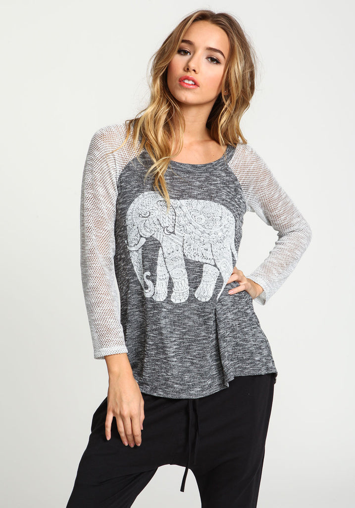 Elephant Netted Cardigan