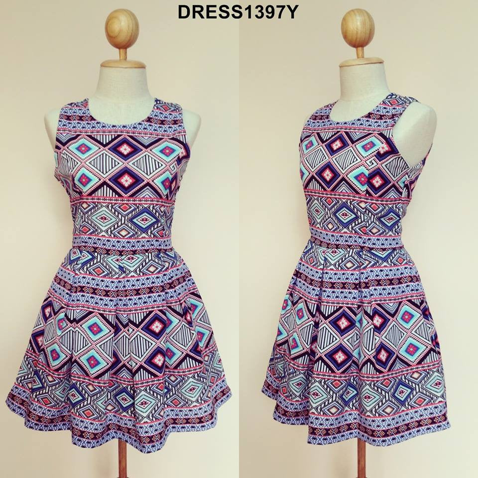 Purple Aztec Dress