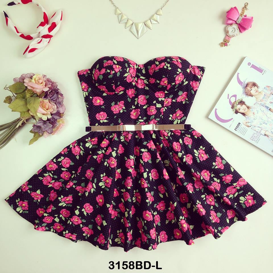 Rosy Bustier Dress