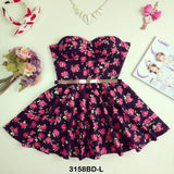 Rosy Bustier Dress - Sassitude