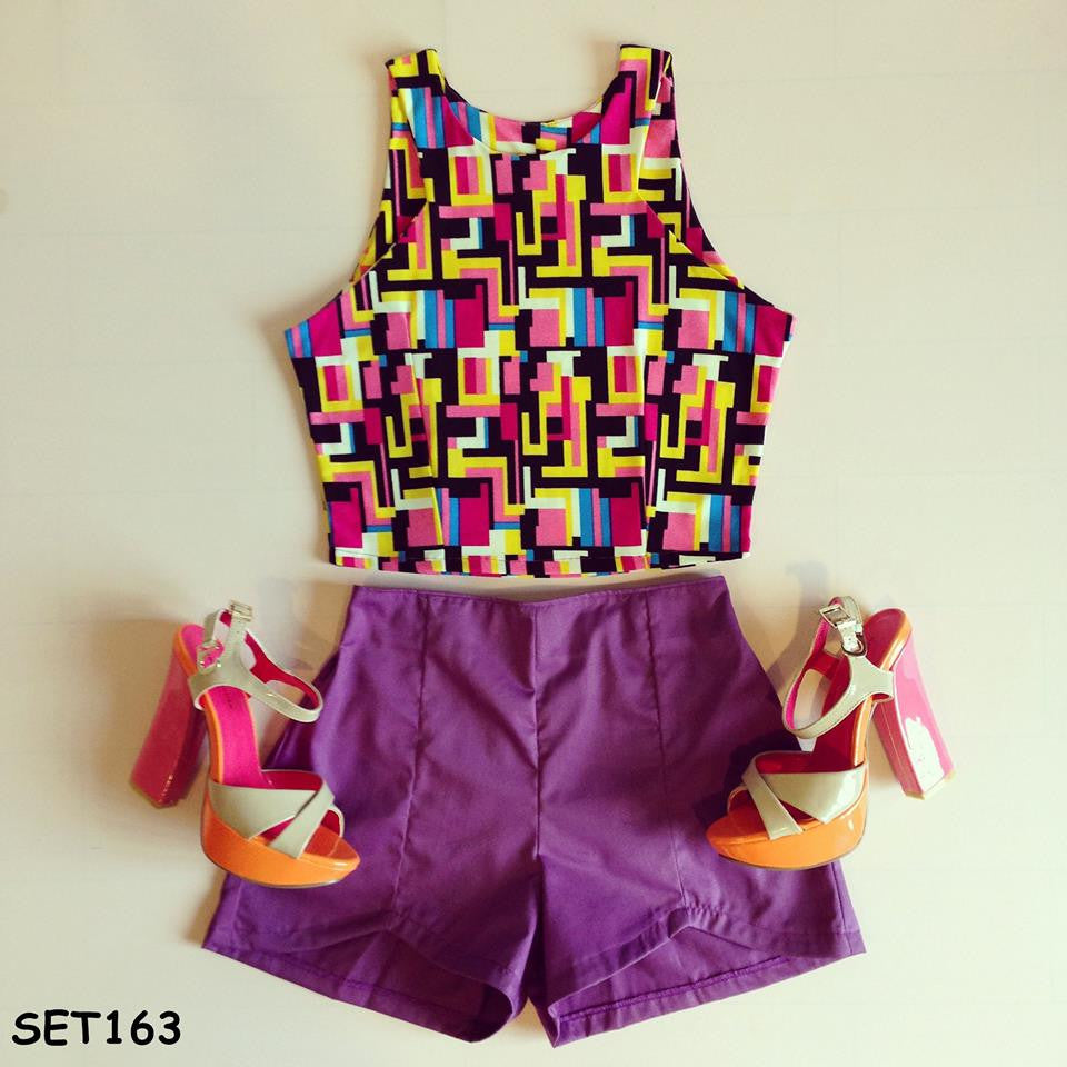 Purple Tetris Set