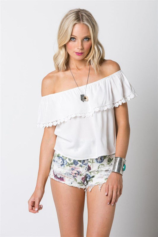 Lace Trim Top