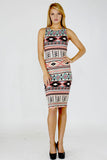 Aztec Bodycon Dress