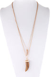 Mocha Tusk Necklace - Sassitude