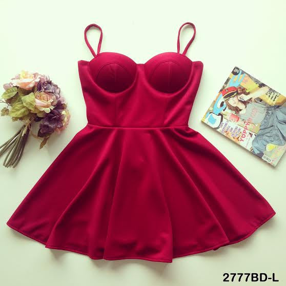 Maroon Bustier Dress