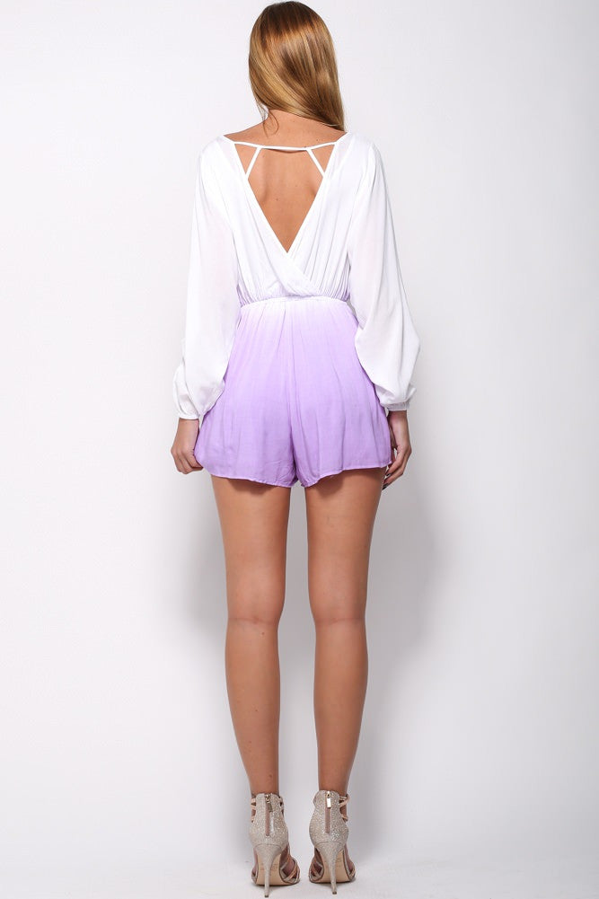 Purple Ombre Playsuit