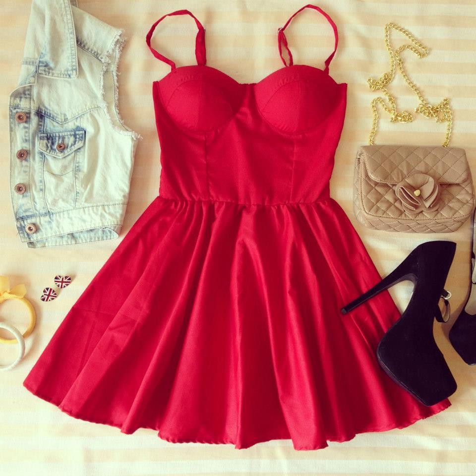 Red Bustier Dress