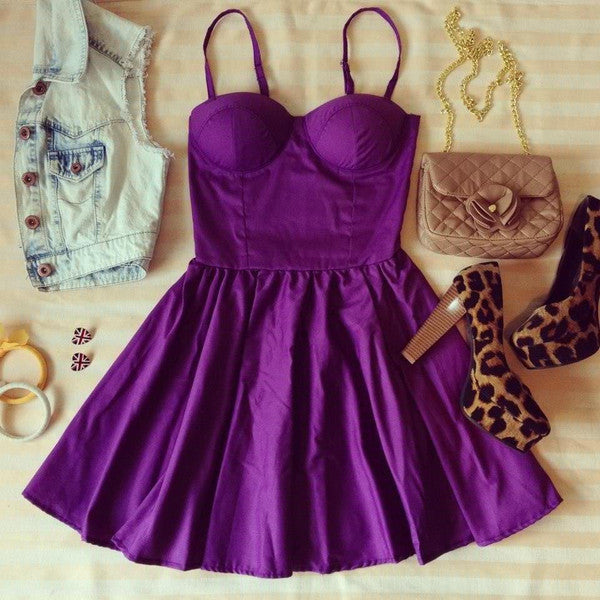 Purple Bustier Dress