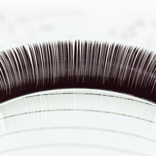Load image into Gallery viewer, Volume Style Eyelash Extensions on Lash Tile, Extreme Closeup