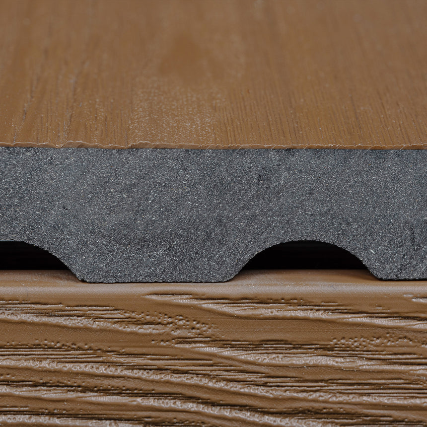 capped composite decking boards