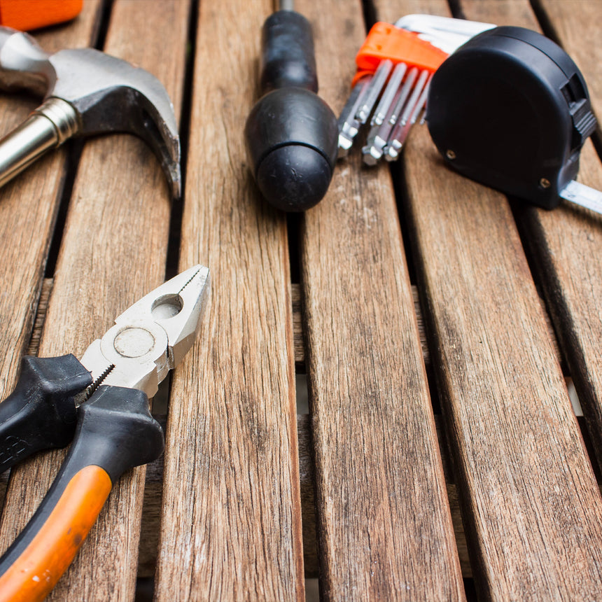 installer tools on decking