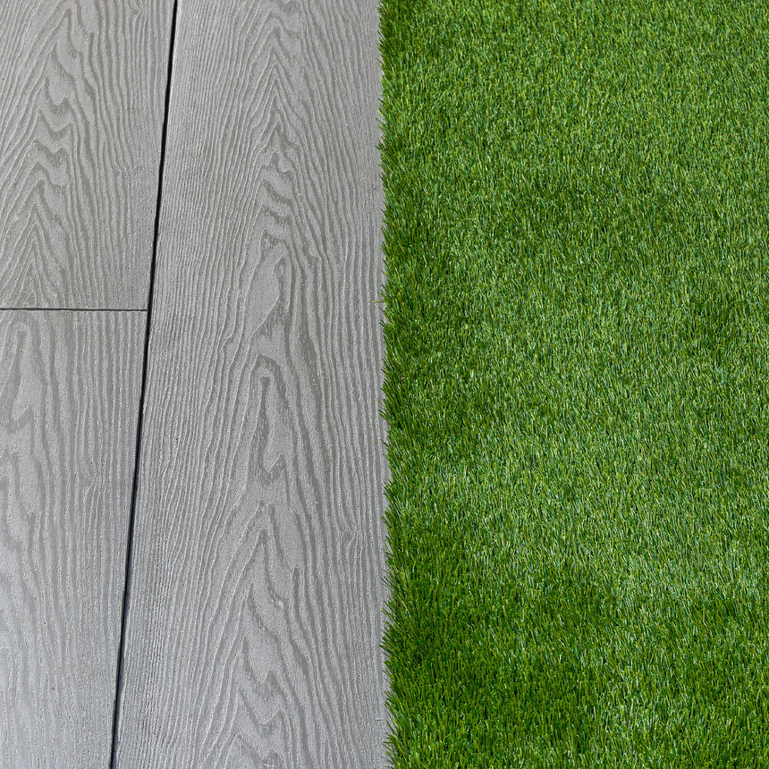artificial grass composite decking